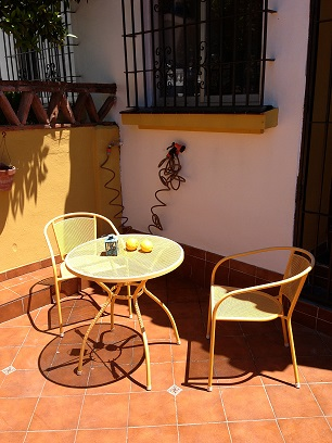 Enjoy your breakfast or cold drink on the front terrace