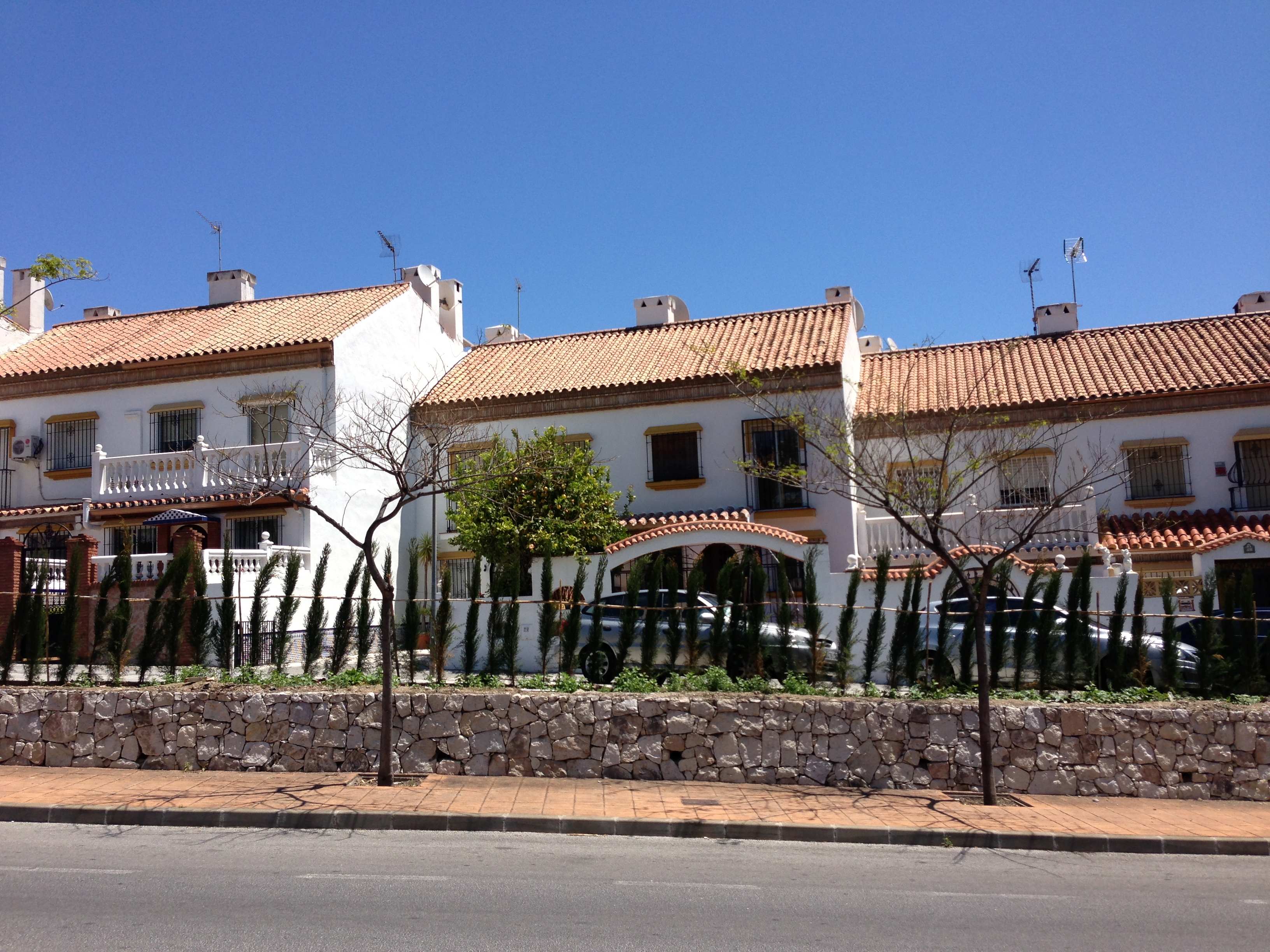 Front view of house to rent Benalmadena